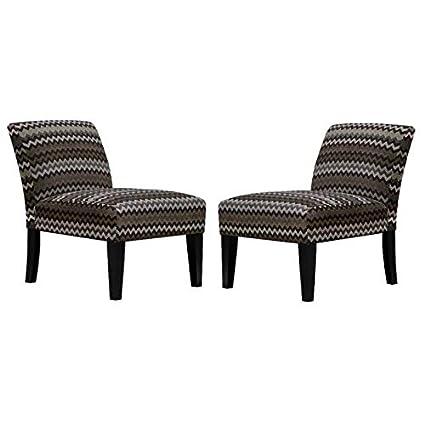 Groovy Amazon Com Saffron Set Of 2 Armless Slipper Accent Chair Theyellowbook Wood Chair Design Ideas Theyellowbookinfo