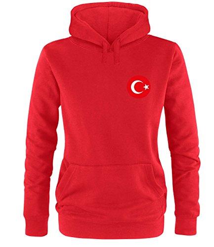 Luckja EM 2016 Trikot Türkei Fanshirt EM02 Damen Hoodie