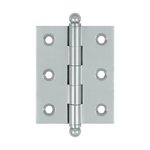 Deltana CH2520U26 Solid Brass 2-1/2-Inch x 2-Inch Cabinet Hinge with Ball Tips