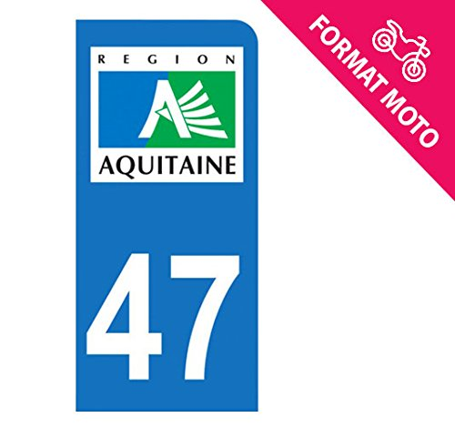 Autocollant Moto immatriculation 47 Lot et Garonne