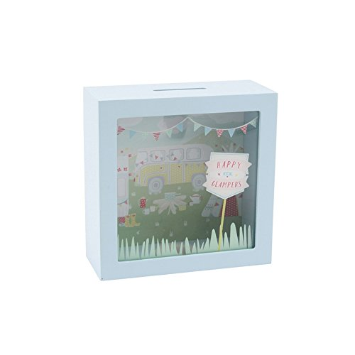 Giftware Box - CGB Giftware Happy Glampers Money Box (One Size) (Aqua)