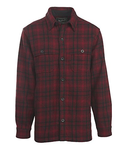 Woolrich Men's Wool Stag Shirt Jacket, Red Hunt, X-Large
