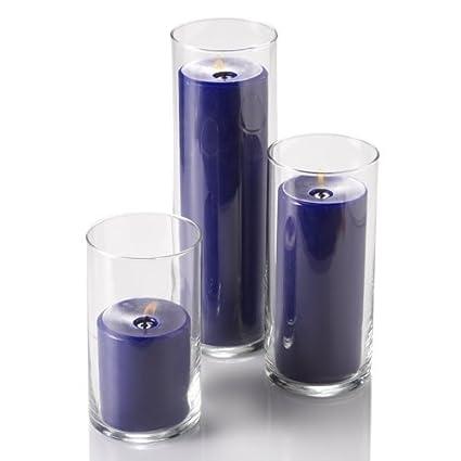 Amazon Set Of 3 Glass Eastland Cylinder Vases And 3 Richland