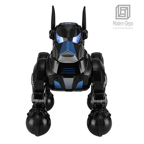 Modern-Depo Rastar Intelligent Robot Dog with Remote Control for Kids, USB Charging, Dancing Demo - Black by Modern-Depo (Image #1)