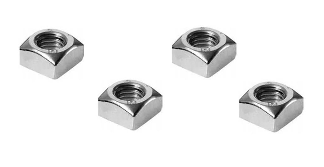 M6 Chamfered Square Nut (4 Pack) A2 Grade Stainless Steel DBA