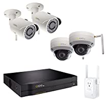 Q-See NVR Kit QC888-4EN-2E, 8-Channel IP H.265 with 2TB Hard Drive and Wi-Fi Extender, 2-3MP Wi-Fi Bullet Security Cameras, and 2-3MP Wi-Fi Dome Security Cameras
