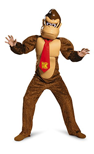 Donkey Kong Deluxe Super Mario Bros. Nintendo Costume, Medium/7-8 -