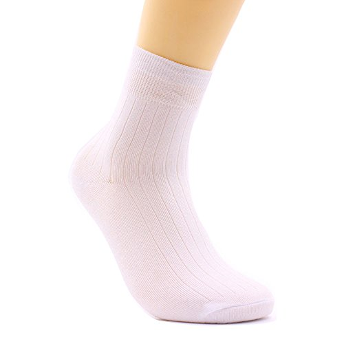 Men's Comfort Cool Vent Classics Dress Flat Knit cushion Crew Socks Color black Color white Cotton - Size 26-28cm( Pack of 6)