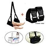 Airplane Footrest,Essentials Travel Accessories-Portable Foot Rest Hammock, Adjustable Flight Carry-On Leg Rest for Airplane Train Car Bus Home Office