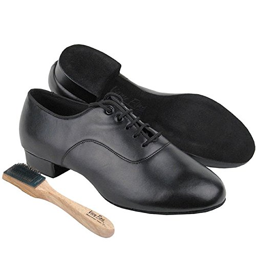 Very Fine C2503 Black Leather Ballroom Dance Shoes w Shoe Brush and Shoe Bag US 9.5