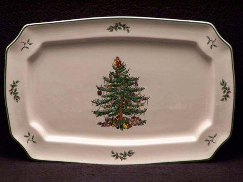 Spode クリスマスツリー 長方形プラッター 13.5インチ   B002YNZPF6