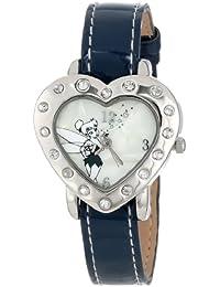 Women's TK1033 Tinkerbell Heart Shape Case Navy Patent Strap Watch