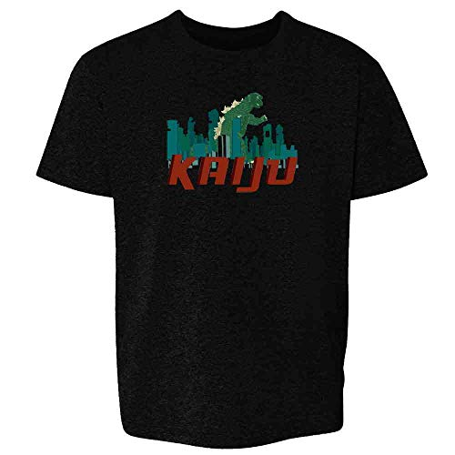 Pop Threads Kaiju Destroying The City Black L Youth Kids T-Shirt