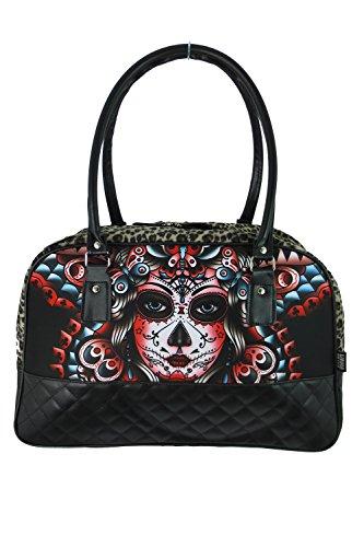 Liquor-Brand-Butterfly-Day-of-the-Dead-Tattoo-Rockabilly-Punk-Big-Handbag-Purse
