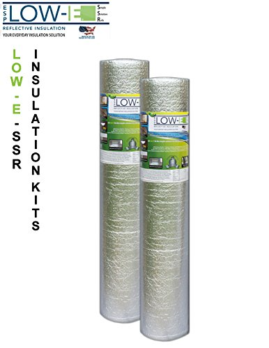 2 Pack Wholesale Lot  Esp Low E  Ssr Reflective Foam Core Insulation Kit  2 Rolls  Size 48 X25  Includes 25 Foil Tape Per Roll  Knife   Squeegee  Multipurpose Home Insulation For Your Building Project Or Just Every Day Household Needs