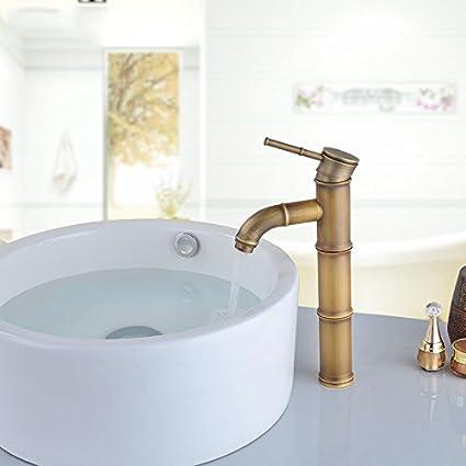 Amazon Com Lhbox Basin Mixer Tap Bathroom Sink Faucet The Brass