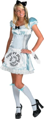 Alice In Wonderland Jr Costumes (Disguise Girls 'Alice in Wonderland' Teen Costume, Blue, Junior 7-9)