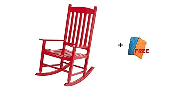 Remarkable Amazon Com Mainstays Outdoor Rocking Chair Wood Slat Pdpeps Interior Chair Design Pdpepsorg