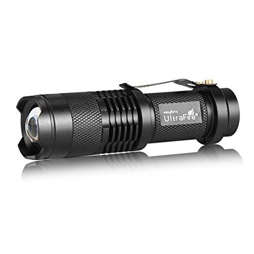 (UltraFire Flashlight Single Mode 7w 300lm Mini Led Flashlight SK68 1-Mode Adjustable Focus Zoom Light)