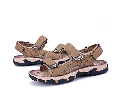 Playa Los Moda De Hombres De Zapatos Brown De La Ocasionales Los Verano Velcro Respirables Zapatos De Hombres Sandalias del De n0wBfAUq6