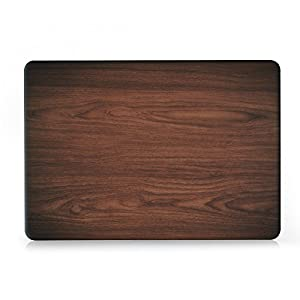 """iCasso Macbook New Pro 13 Case 2017 and 2016 Release Hard Shell Cover For Newest Macbook Pro 13""""Retina Model A1706/A1708 with/without Touch Bar and Touch ID with Keyboard Cover (Brown woodgrain)"""