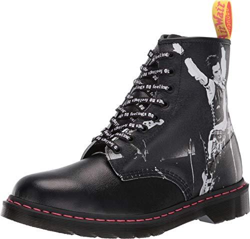 Dr. Martens Unisex 1460 Sex Pistols Collab Black Backhand Straw Grain Leather 11 M UK (Sex Pistols Black Leather)