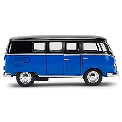 Master Toys & Novelties 1962 Volkswagon VW Micro Bus Die Cast Toy, Blue and Black: Toys & Games