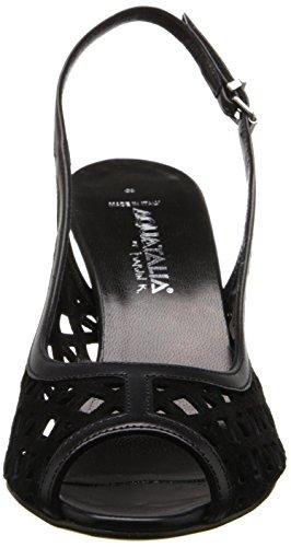 Aquatalia Womens Lee Dress Pump Nero Pelle Scamosciata / Vitello