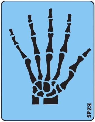 Skeleton Hand Stencil Reusable Stencils of Skeleton in Multiple Sizes
