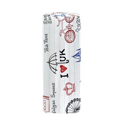 Symbole London Federmäppchen Stift Tasche Multifunktionale Stationery Tasche Reißverschluss Tasche von bennigiry, Student Reißverschluss Bleistift Inhaber Tasche Geschenk Travel Make-up Tasche