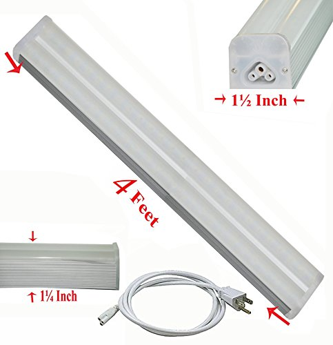 SleekLighting T5 LED Double Bar Tube Lighting 4-ft Froste...