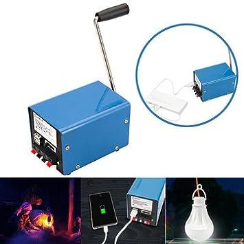 Amazon.com: Generador de manivela manual de 20 W para ...