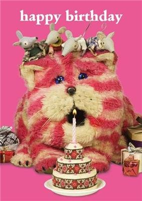 Bagpuss Happy Birthday Cake Greeting Card Amazoncouk Kitchen Home