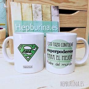 Hepburina: Taza Día del Padre Mug Gift Coffee Mug 11OZ Coffee Mug
