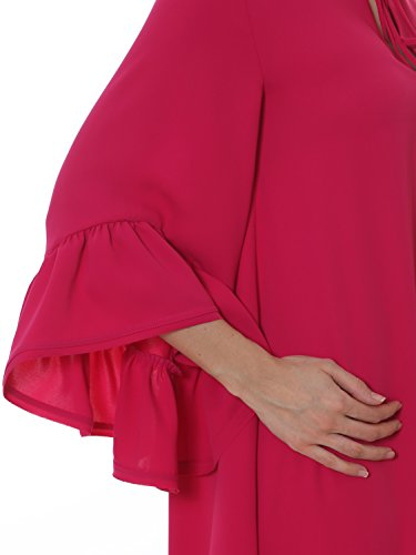 S H R O P Damen Rosa Kleid 722004POLO85 A HtCwAqg