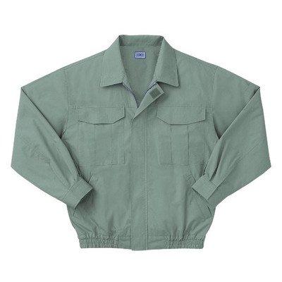 空調服 綿薄手長袖作業着 M-500U 〔カラーモスグリーン: サイズXL〕 電池ボックスセット[通販用梱包品] B07DGVC3J2