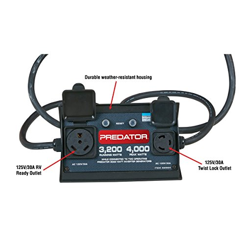 RV Ready Parallel Kit 3 AMPS; •Two 125V 30A outlets in Weather-Resistant housing