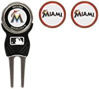 MLB Miami Marlins Divot Tool Pack With 3 Golf Ball Markers
