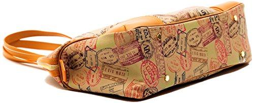 Borsa Spalla Donna Safari Cuoio Alviero Martini Bag Woman Beige Leather EVER117D012B