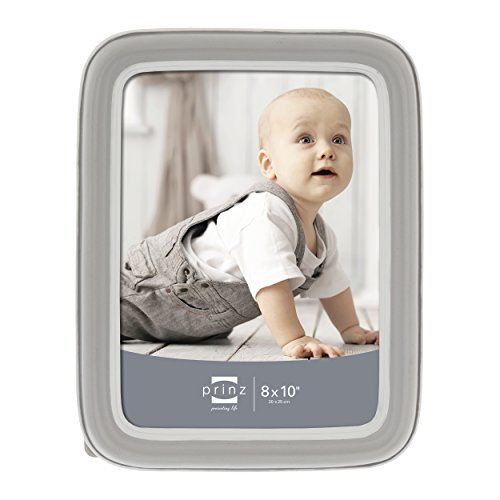 Prinz Resin Frame with Rounded Corners-Baby, 8 by 10-Inch, (Gray Resin)