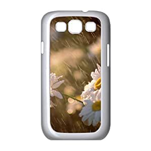 [Sunny Daisy] Rain Daisy Case for Samsung Galaxy S3, Samsung Galaxy S3 Case Protective for Guys {White}