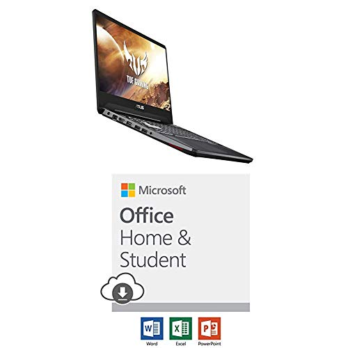 (Asus TUF Gaming Laptop with Microsoft Office Home and Student 2019 Download | 1 person, Compatible on Windows 10 and Apple macOS)