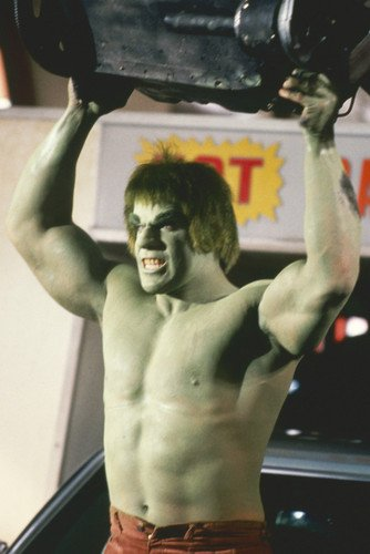 Lou Ferrigno In The Incredible Hulk Angry And Green Barechested 24X36 Poster