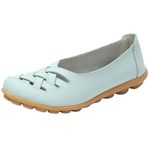 ONS Vogstyle Slip Style Flats Loafers 1 Sky New Sandals Leather Women's Moccasins Blue 8qrOzB8w