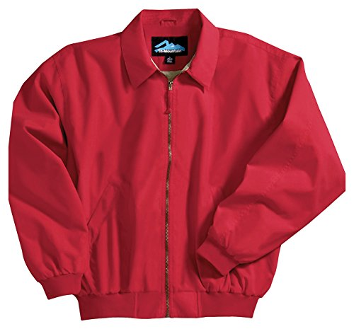 Achiever Microfiber Jacket with Poplin Lining, Color: Red, Size: Small