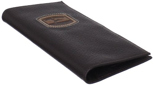 John Deere Men's Historical Logo Cheque Book Holder, Brown, One Size