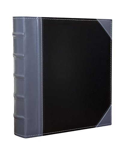 Executive Binder, English Leather 2 Tone with Stitching and Ribbed Spine, Heavy Duty 1.1/2