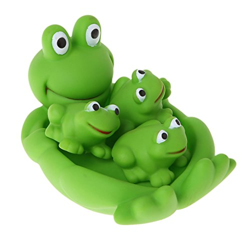 05 Toy - EA-STONE Baby Children Bath Pool Toy-- Cute Animal Soft Float Sqeeze Sound Toy Funny Bathtub Toys Float Toy (05# Frog)