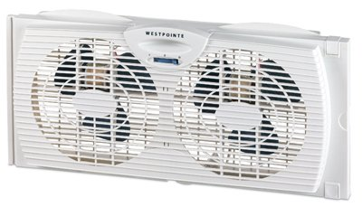 WestPointe WWF0710A-XWM-DIM Twin Window Fan