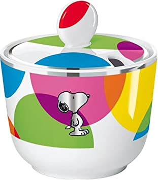 United Labels 0106883 - Best of Snoopy-Lots of Dots Zuckerdose Porzellan in prämierter Geschenkverpackung 200 ml